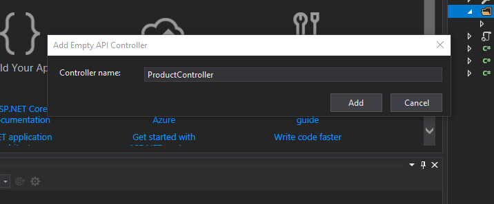 create a new api controller