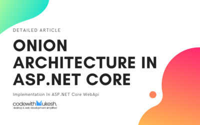 Onion Architecture In ASP.NET Core With CQRS – Detailed