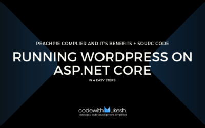 Running WordPress on ASP.NET Core in 4 Easy Steps – Peachpie